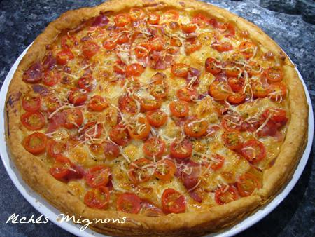 Tomates, Tartes salées, Jambon cru
