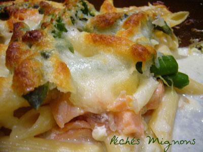 Légumes, Pâtes, Saumon, Gratin, Crème, Mozzarella, Facile, Oeufs, Asperges,