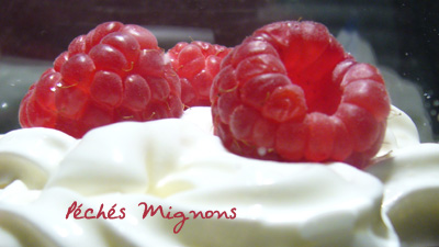 Framboises, Fromage blanc, Verrines,