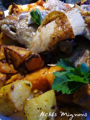 Poulet, Maroc, Epices, Pommes de terre, Patate douce, Couscous, Fruits secs, Citron, Orange, J.Oliver