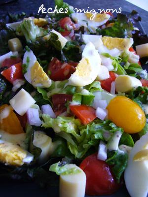 Coeur Palmier, Entrée froide, Oeufs, Salade, Tomates
