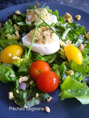 Entrée froide, Oeufs, Salade, Thon, Rapide