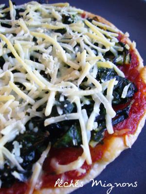 Blettes, Fromage, Légère, Pâte feuilletée, Tomates, Pizza