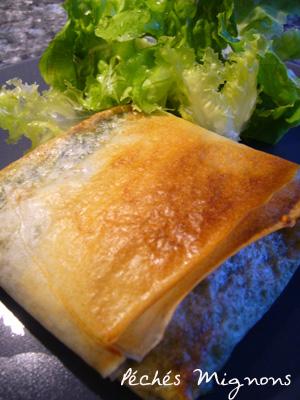Epinards, Feuille de Brick, Fromage, Légère, Rapide, Ricotta