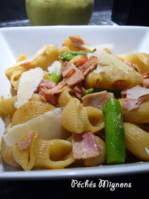 Asperges, Bacon, Jambon, Légère, Pâtes, Rapide