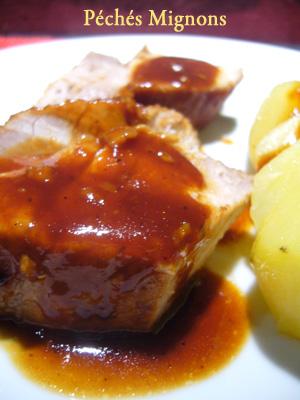 Porc, Ketchup, Sauce soja, Worcestershire sauce, Miel,