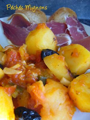 Pommes de terre, Tomates, Olives, Poivron, Rapide, Légère