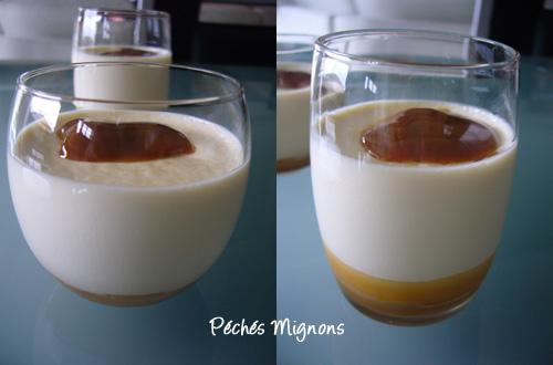 Confiture de lait, Crème, Panna cotta, Verrines, Verrines sucrées