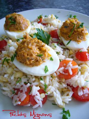 Rapide, Riz, Salade, Tomates, Mais, Herbes,