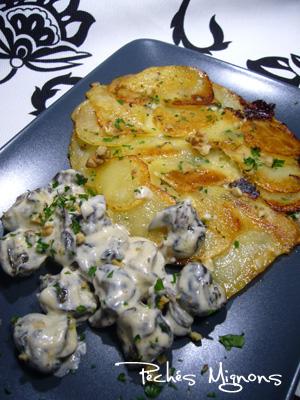 Ail, Chèvre, Crème, Escargots, Fromage, Herbes, Persil, Pommes de terre