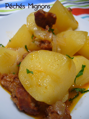 Espagne, Pommes de terre, Chorizo, Oignons, Ail, Vin,