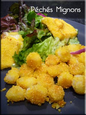 Mozzarella, Semoule de maïs, Pétoncles, Salade, Oeufs, Rapide, Facile,