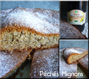 Gâteau, Poudre amande, Sirop sureau, Sucre, Oeufs, Facile, Beurre, Farine