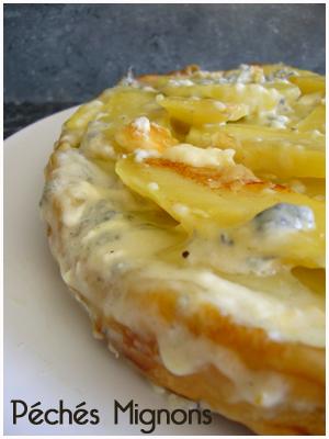 Tatin, Fromage, Buche cendré, Crème, Pâte feuilletée, Oeufs, Pommes de terre, Entrée chaude, Tartes salées,
