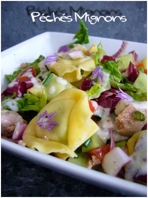 Salade de tortellini au thon p ch s mignons for Entree froide legere