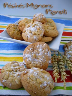 T.Deseine, Pignons, Pâte d'amande, Sucre glace, Sucre, Oeufs, Facile, Biscuits,