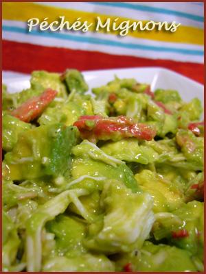 Avocat, Crabe, Piments, Antilles, Facile, Rapide, Entrée froide, Citron vert,