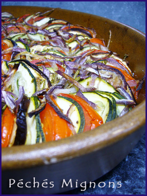 Tian, Aubergine, Courgettes, Tomates, Oignons, Herbes, Thym, Facile, Légère,