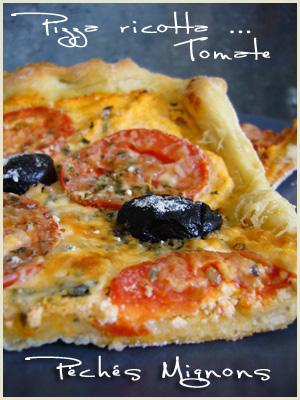 Pizza, Fromage, Ricotta, Tomates, Herbes, Origan, Oeufs, Parmesan, Olives, Facile, Basilic, Entrée chaude,