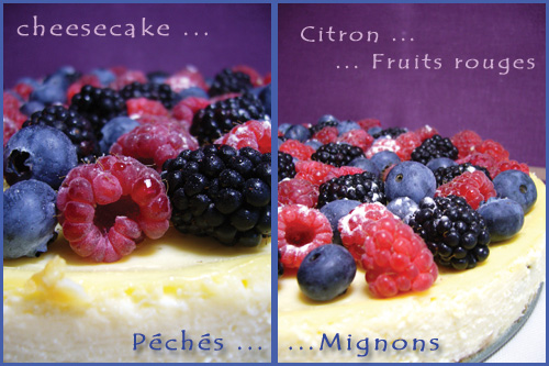 Ricotta, Oeufs, Crème, Fruits rouges, Mures, Framboises, Myrtilles, Beurre, Biscuits, Fromage, Citron, Facile,