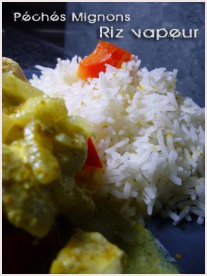 Vapeur, Riz, Poulet, Lait coco, Curry, Facile, Légère,