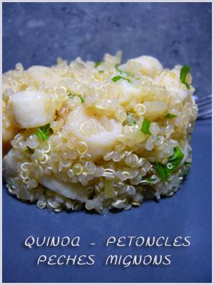 Facile, Légère, Oignons, Pétoncles, Poisson, Quinoa, Rapide