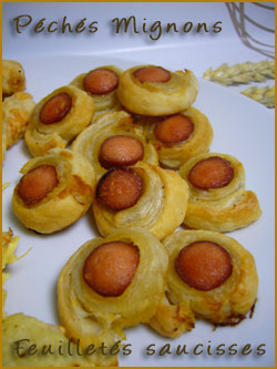 Feuilleté, Pâte feuilletée, Saucisses, Fromage, Facile, Rapide,
