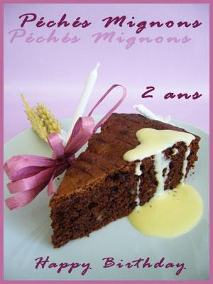 Gâteau, Chocolat, Chocolat noir, Noix, Noix pécan, Beurre, Farine, Facile, Rapide, Fruits confits,