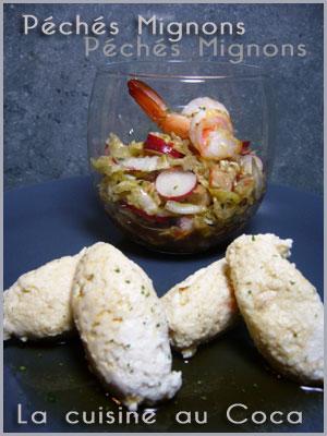 Chou Chinois, Gambas, crevettes, Radis, Coca-Cola, Citron vert, Piments, Facile, Rapide,  Entrée froide,