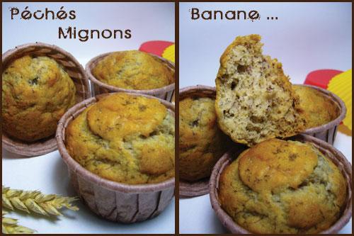 Muffins, Banane, Farine, Facile, Rapide, Miel, Epices, Cannelle,