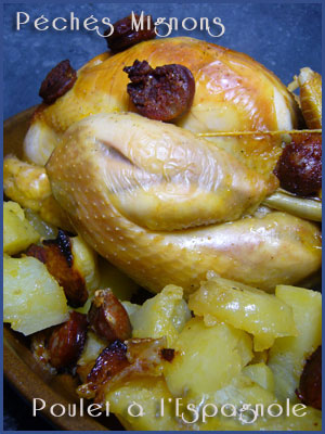 Poulet, Citron, J.Oliver, Pommes de terre, Persil, Chorizo, Ail,
