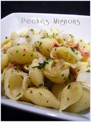 Pâtes, Lardons, Persil, Piments, Herbes, Origan, Basilic, Thym, Rapide, Facile,