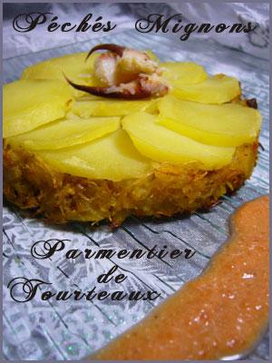 Poisson, Tourteaux, Pommes de terre, Echalotes, Tomates, Herbes, Ciboulette, Thym, Crème, Piments, Bière, Facile,