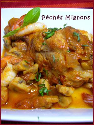Poulet, Tomates, Facile, crevettes, Champignons, Basilic, Herbes, Vin, Alcool,