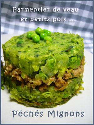 Pommes de terre, Petits pois, Veau, Gratin, Thym, Oignons, Légère, Facile,