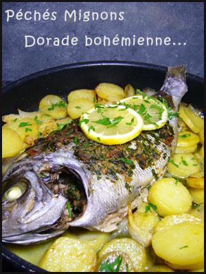 Dorade, Pommes de terre, Persil, Ciboulette, Ail, Oignons, Citron, Cumin, Facile, Epices, Herbes, Beurre, Légère, Facile,