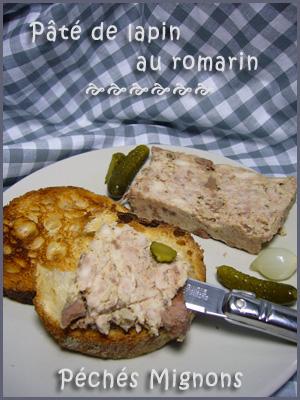 Lapin, Terrine, Entrée froide, Porc, Foie, Crème, Oeufs, Romarin, Porto, Alcool, Epices, Echalotes,