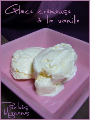 Glace, Vanille, Crème, Lait, Oeufs, Sucre,