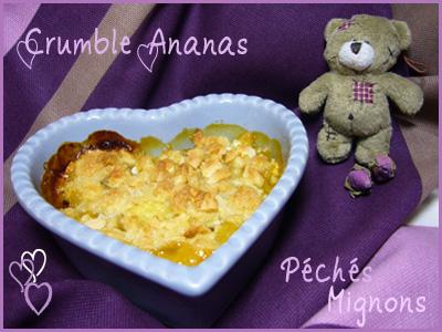 Crumble, Ananas, Beurre, Fruits secs, Amandes, Sucre roux, Facile,