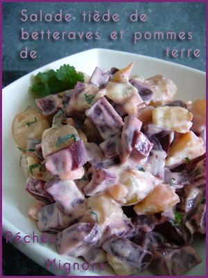 Salade, Entrée froide, Coriandre, Herbes, Betterave, Pommes de terre, Yaourt, Ail, Oignons, Facile, Légère,