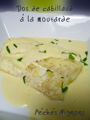 Cabillaud, Moutarde, Crème, Facile, Gingembre, Epices,