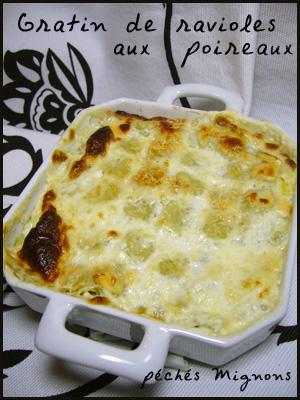 Gratin, Ravioles, Crème, Facile, Poireaux, Fromage,