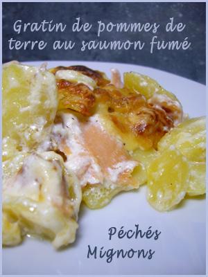 Gratin De Pommes De Terre Au Saumon Fume Peches Mignons