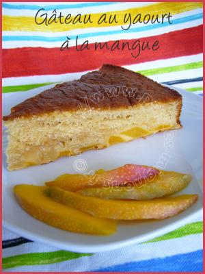 Gateau Au Yaourt A La Mangue Peches Mignons