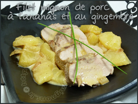 Filet mignon à l'ananas et gingembre