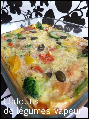 Clafoutis de légumes vapeur