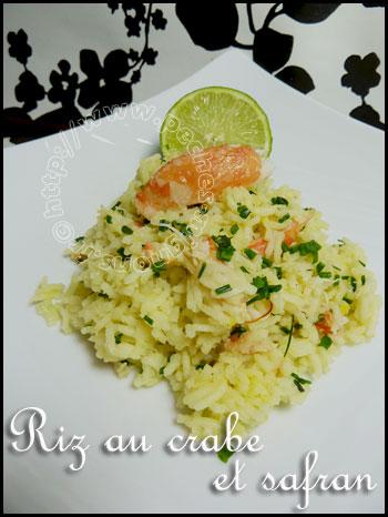 Riz au crabe et safran