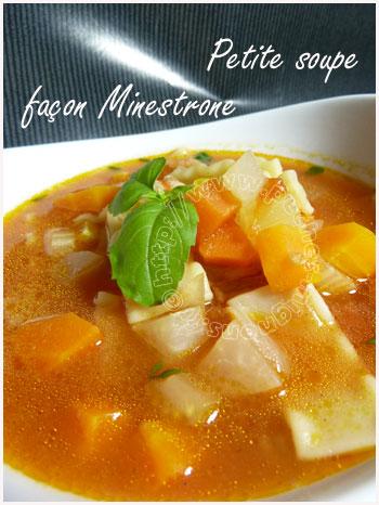 Petite soupe façon minestrone