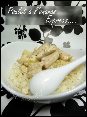 Poulet à l'ananas express