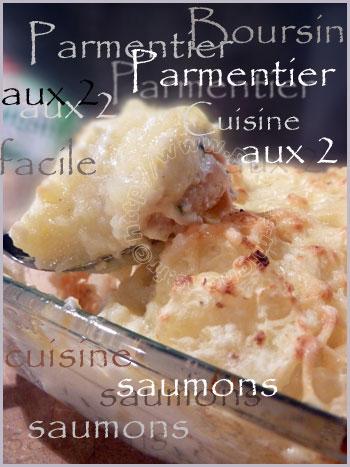 Parmentier aux 2 saumons